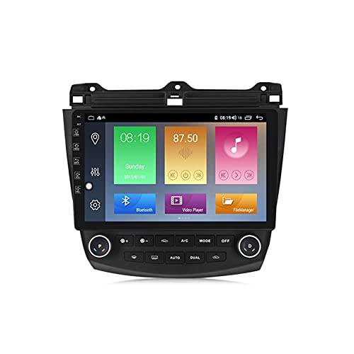 ADMLZQQ Car Radio Stereo 2 DIN Android10.0 para Honda Accord 7 2003-2007 GPS navegación capacitiva Pantalla táctil Manos Libres Bluetooth MP5 Player Radio FM/RDS Controles del Volante,M600 6+128g