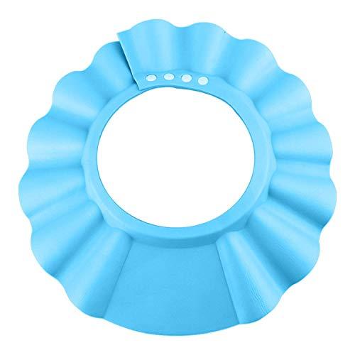 Baby Shampoo Cap, Einstellbare Baby Duschhaube, Shampoo Schutz für Kinder Ohren, Kinder Shampoo Kappe, Duschhaube Kinder, Kinder Dusche Schützen, für 0-9 Jahre-blaue