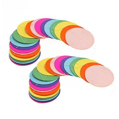 Toyvian 2 stücke Papier Bunte Kreis Punkte Rinbow Runde Papier Garland Runde Hängende Girlande für Geburtstag Hochzeit Engagement