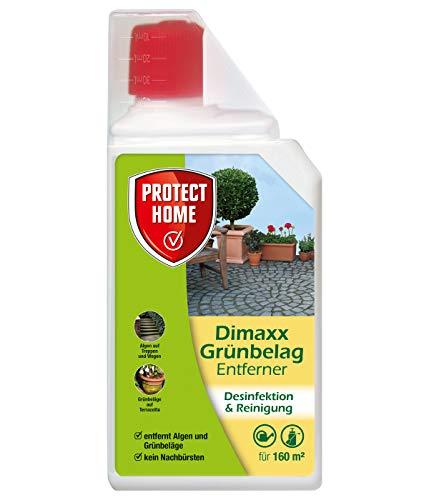PROTECT HOME Dimaxx Grünbelag-Entferner (ehem. Bayer Garten Dimanin, Steinreiniger gegen Grünbeläge und Algen sowie gegen Schimmel und Keime im Haus und im Sanitärbereich, 1 Liter