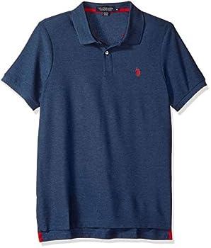 U.S Polo Assn Men s Ultimate Pique Polo Rinse Blue Heather M