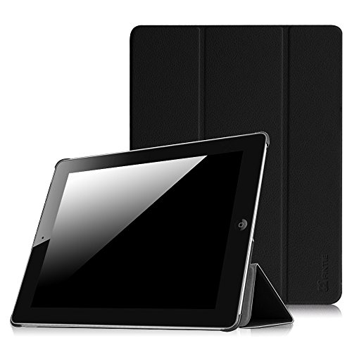 Fintie Slimshell Case for iPad 2 3 4 (Old Model) - Lightweight Tri-Fold Smart Stand Cover Protector Supports Auto Wake/Sleep for iPad 4th Generation with Retina Display, iPad 3 & iPad 2, Black