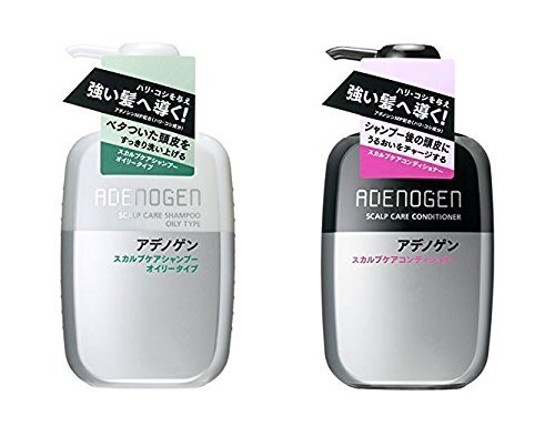 Shiseido Adenogen Scalp Care Shampoo Oily Type and Conditioner pump type each 400ml, 2 one set