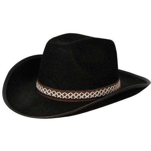 Noir Chapeau Cowboy avc décoratif tenue de la bande Accessoire pour Costume Western noir