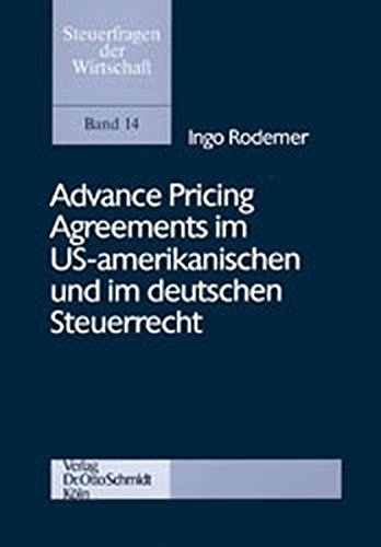 Rodemer: Advance Pricing Agreements