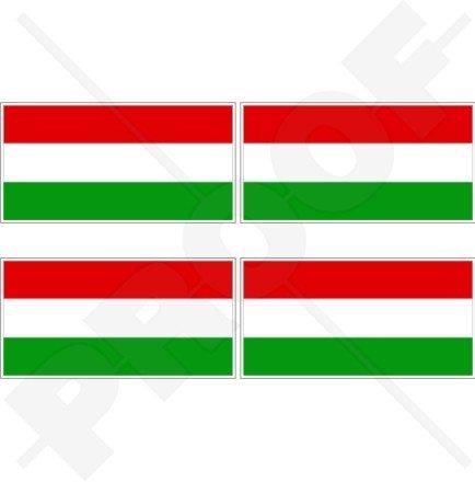 Ungarn Ungarische Flagge Ungarisch 5,1cm (50mm) Vinyl bumper-helmet Sticker, Aufkleber X4