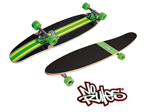 No Rules Longboard / Skateboard GREEN LINE PIN ABEC 7