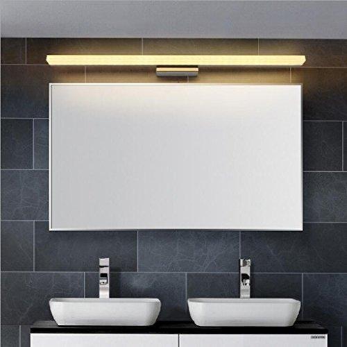 BiuTeFang 16W LED Spiegelleuchten Schranklampe AC85-265V Moderne Wasserdicht IP44 Badbeleuchtung Wandleuchte Warmweiß 120CM