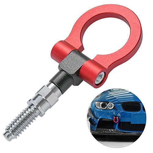 ATPWONZ Abschleppöse Auto Abschlepphaken Anhängerkupplung für BMW Auto Rot 18,5X 7.4cm(L x B Schraubendurchmesser 19mm