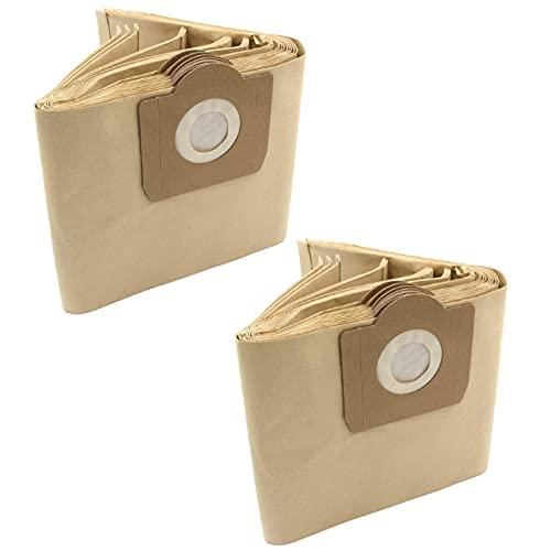 vhbw 20x bolsa compatible con Quigg NTS 1000 / NTS1000 aspiradora - papel, color arena