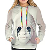 American Horror Story - Sudadera con capucha para mujer, impresin 3D, casual, con capucha, para nias Negro Negro ( L