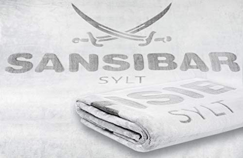Sansibar Wohndecke Kuscheldecke Tagesdecke Micro Flausch Prägedruck 150x200 cm Silber/Anthrazit
