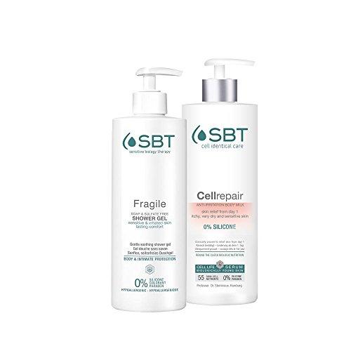 SBT Sensitive Biology Therapy Cellrepair Body Milk + Cellrepair Shower Gel Limitierte Edition