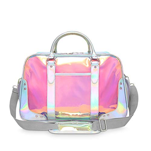 NeoMcc Multi-Purpose Fitness Duffle Bags Women Golf Clothing Bag Laser Colorful Waterproof Fabric Sports Duffel Gym Handbag with Shoes Compartment Unisex (Color : Colorful, Size : 48x24x32cm)