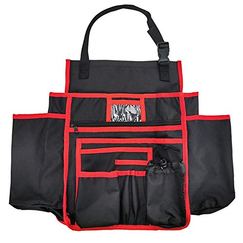 Organizador de Asiento Tasero de Coche Universal Colgante Asiento Atrás Protector Patada Mat Travel Storage Bags Organizer Protector de Respaldo de Automóviles (Color : Red, Size : One Size)