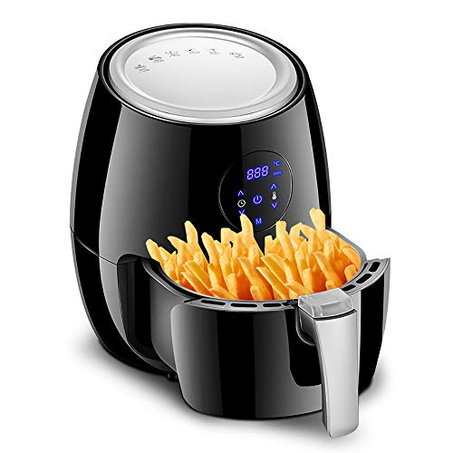 1350W 3.8L Air Fryer, Oil Free Low Fat Digital Healthy Air Fryer LED Touch Screen Timer Temperature Control Power for Chicken, Chips, Fish, Steak, Shrimp, Pork