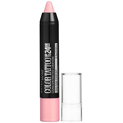 Maybelline New York Eyestudio ColorTattoo Concentrated Crayon,705 Pink Parfait, 0.08 oz.