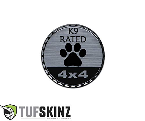TufSkinz   'Rated Badge - Brushed Silver - 1 Piece (Animals, K9 Rated)