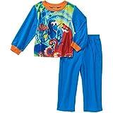 Disney Finding Dory 2 Piece Fleece Baby/Toddler Little Boys Pajama Set (12 Months) Blue