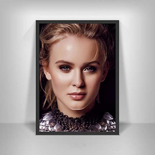 YF'PrintArt Leinwanddrucke Zara Larsson Poster Schwedische Musiksängerin Star Wall Art Picture Poster Und Drucke Für Room Home Decor Leinwandbild Rahmenlos 50X70Cm -A1