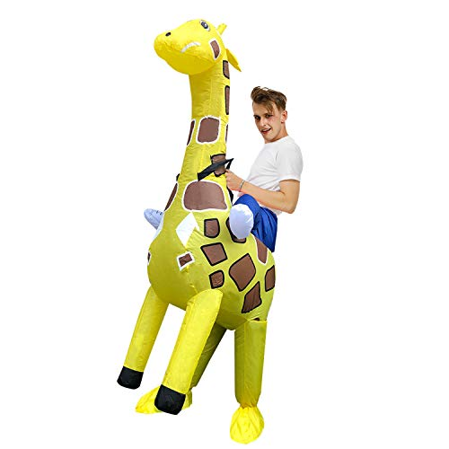 Christmas Halloween Adult Cosplay Inflatable Set Carnival Party Event Giraffe Yellow