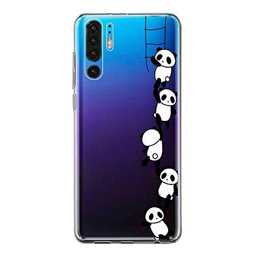 Zater Hülle Hülle für Huawei P30 Handyhülle,Huawei P30 Pro Schutzhülle Superdünn Transparent Silikon Soft TPU Crystal Clear Bumper Schutzhülle für Huawei P30 Lite Hülle