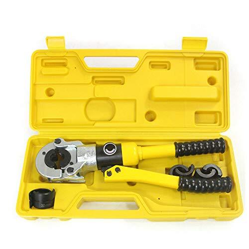 Alicates de prensado hidráulicos, 16 mm, 12T, tenaza de prensado TH 16-32, mordazas de presión 360°, para tubos interconectados y accesorios de perfil TH