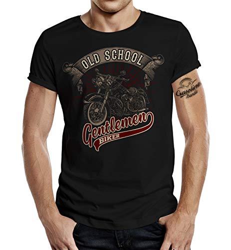Biker Racer T-Shirt: Oldschool Gentlemen S