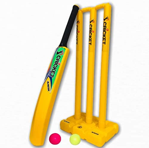 Cricket Beach Plastic Set Blaster Yellow for Kids Adult Bat Ball Stumps Bag Size 5 product image
