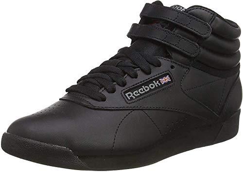 Reebok Freestyle Hi - Zapatillas de cuero para mujer, Negro (Black), 38.5 EU
