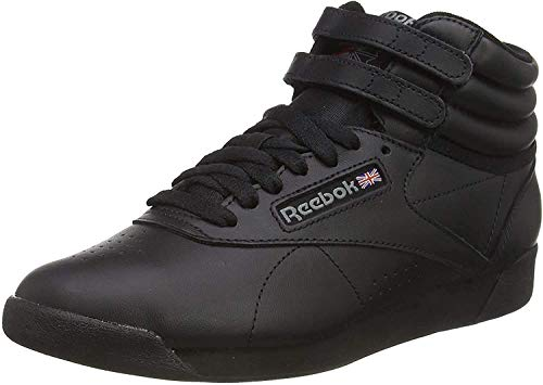 Reebok Freestyle Hi, Sneakers Hautes Mixte adulte, Noir (Black), 38.5 EU