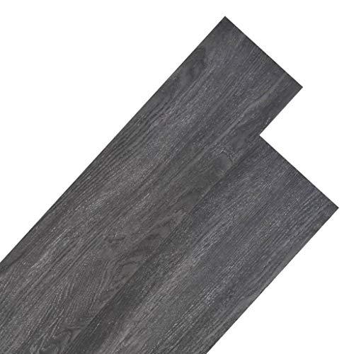 vidaXL 18x Lámina Suelo 5,26m² PVC 2mm Negro Blanco Baldosa Loseta Tarima