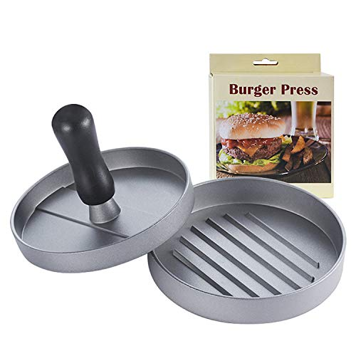 4.5 Inch Large Burger Press, Non-Stick Aluminum Hamburger Patty Maker, Perfect Hamburger Mold Ideal for Stuffed Burgers and BBQ, Essential Kitchen & Grilling Accessories