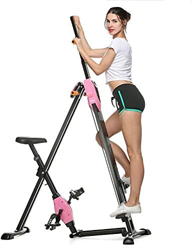 WANYE Escalador Vertical, Máquina Trepadora Plegable Equipo De Ejercicio Cardiovascular Plegable Combina La Tonificación Muscular Y El Ejercicio Aeróbico