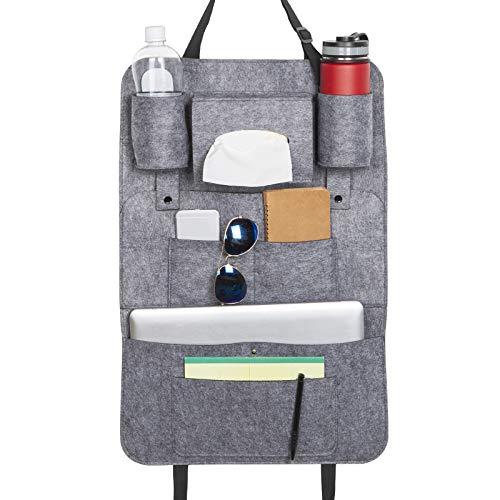 Auto Organizer, Rückenlehneschutz Auto Kinder, Filz Autositzschoner, Rücksitz Organizer, Autorücksitz Tasche für Reise, Camping