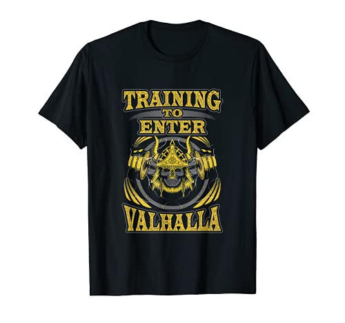 Hombre Viking - Camisa de entrenamiento para gimnasio, regalo de culturismo para él Camiseta