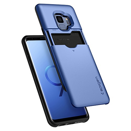 Spigen Slim Armor CS [Updated Version] Designed for Galaxy S9 Case (2018) - Coral Blue - coolthings.us