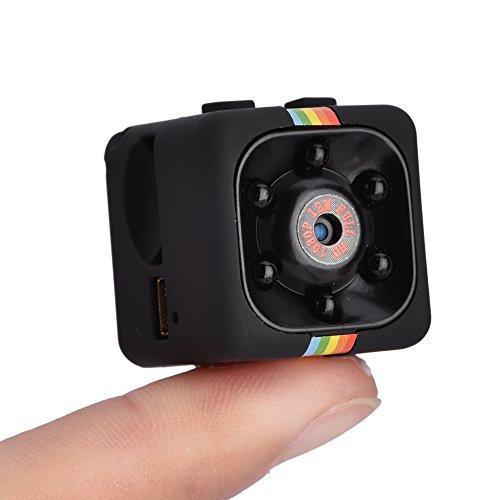 Mini cámara 1080P HD, videocámara pequeña Grabadora DV con visión Nocturna por Infrarrojos, cámara Deportiva DV Mini grabadora de Video DV Batería incorporada para Interior al Aire Libre(Negro)