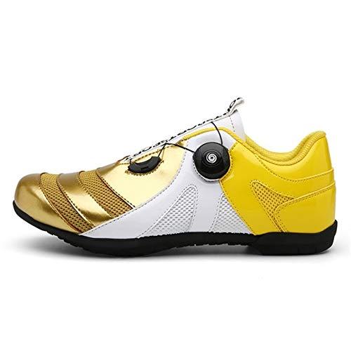 HONG YU Los Hombres Zapatos de Ciclo del Zapato atlético Mujeres Mountain Bike Racing Formación Sidebike Northwave Calzado Camino de MTB Zapatillas Tenue Vtt Homme