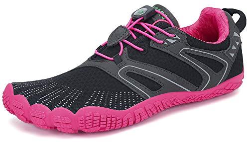 Barefoot Zapatillas Mujer Minimalistas Zapatillas Trekking Respirables Zapatos Five Fingers Calzado Minimalista Rosa 37 EU