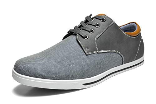 Bruno Marc Men's RIVERA-01 Grey Oxfords Shoes Sneakers Casual Dress Shoes Size 10.5 M US