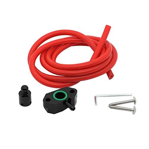 Nrpfell Turbo Boost Tap Kit für A1 1.4TST EA211 Motor für 7 MK7 1.4T Schwarz + Rot