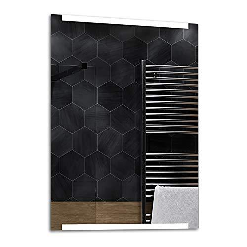 ALASTA® Miroir   Moderne Miroir Mural   70x100cm   Hobart   Nouvelle Génération Miroir avec Accessoires   Blanc Froid/Chaud en Option
