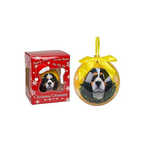 E&S Pets Mano pallina di Natale cane immagine Cavalier King Charles Spaniel