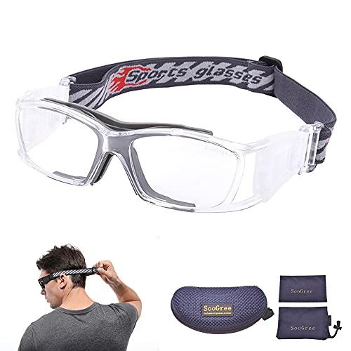 SooGree Basketball Dribbling Glasses Soccer Football Sports Protective Eyewear Goggles Eye Safety Glasses Anti Fog Lens for Men Adults