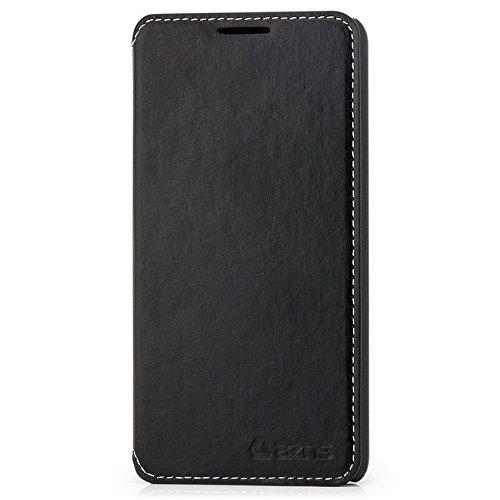 Saxonia Flip Hülle Tasche für Huawei Ascend G520 G525 Elegante Schutzhülle mit Kartenfach | Farbe: Schwarz