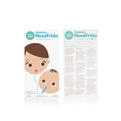 Baby Nasal Aspirator NoseFrida the Snotsucker with 24 Extra Hygiene Filters by Frida Baby