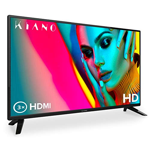 Fernseher Kiano Slim TV 80 cm [32 Zoll, Triple Tuner, DVB-T2, CI, CI+] Multimedia über den USB, Fernseher 32 Zoll (PVR, Dolby Audio, Triple HDMI, 8.5 ms, LED, Direct LED, HD) Energieklasse A