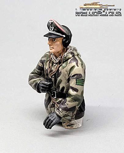 licmas 1/16 Figur deutsche Panzer Mannschaft Wehrmacht Splittertarn Kommandant WW2