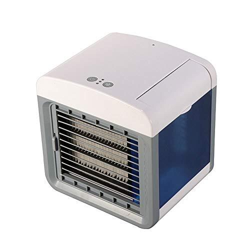 BangHaa Personal del refrigerador de aire Ventiladores USB mini portátil de aire acondicionado, mini portátil acondicionador de aire de refrigeración de aire ventilador de escritorio Aire acondicionad